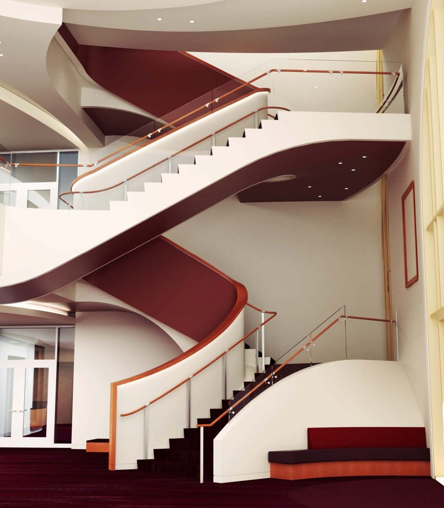 Glorya Kaufman International Dance Center Grand Staircase