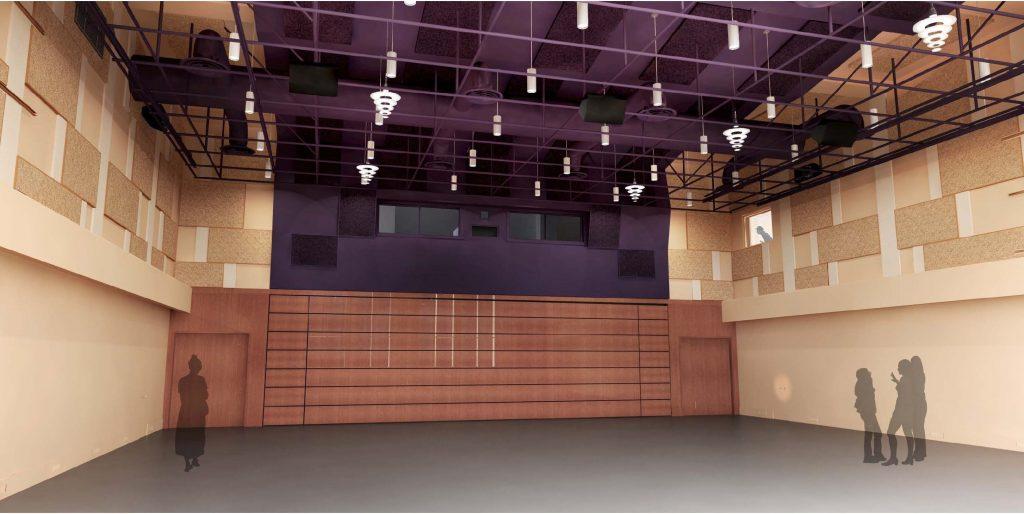 USC-Kaufman-International-Dance-Center-Interior Rendering-Large-Performance-Studio-No-Seating