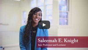 Saleemah E. Knight Faculty Feature on YouTube