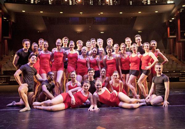 USC Kaufman BFA Dancers on stage at The Bing Theatre | Photo by Rose Eichenbaum