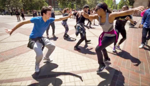 Surprise Dance Party and Flashmob on campus