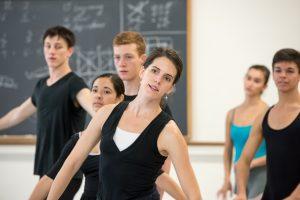 Jackie Kopcsak teaching ballet class