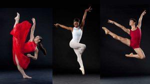 Dizzy Feet Scholarship Award Recipients Alyssa Allen, Lenai Wilkerson and Paulo Hernandez-Farella