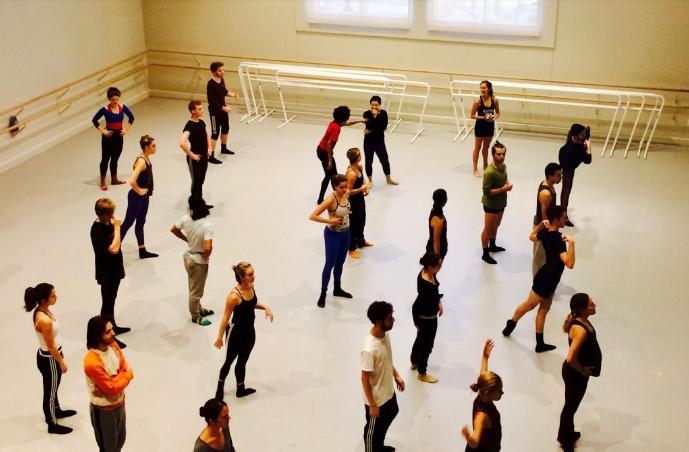 USC Kaufman students training at the Glorya Kaufman International Dance Center