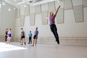 Brandon Carpio in Ballet Class. Photo by Carolyn DiLoreto