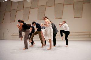 BFA Students Rehearse Sophia Oddi's Piece. Photo by Carolyn DiLoreto