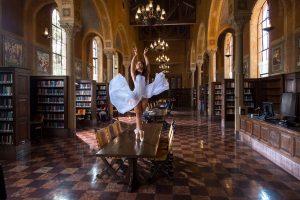 USC Kaufman's Megan Yamashita at USC Doheny Library.