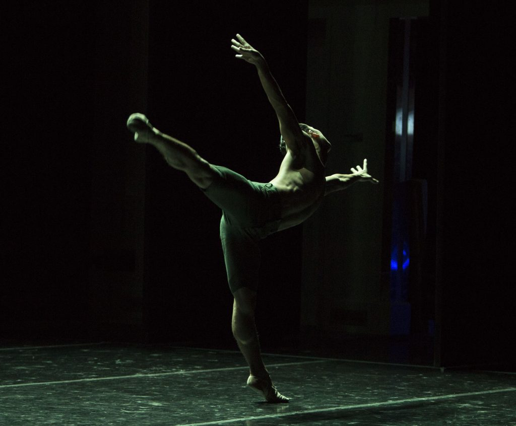 """USC Kaufman students perform Dwight Rhoden's """"Gone"""" at the 2016 Fall Dance Performance"""