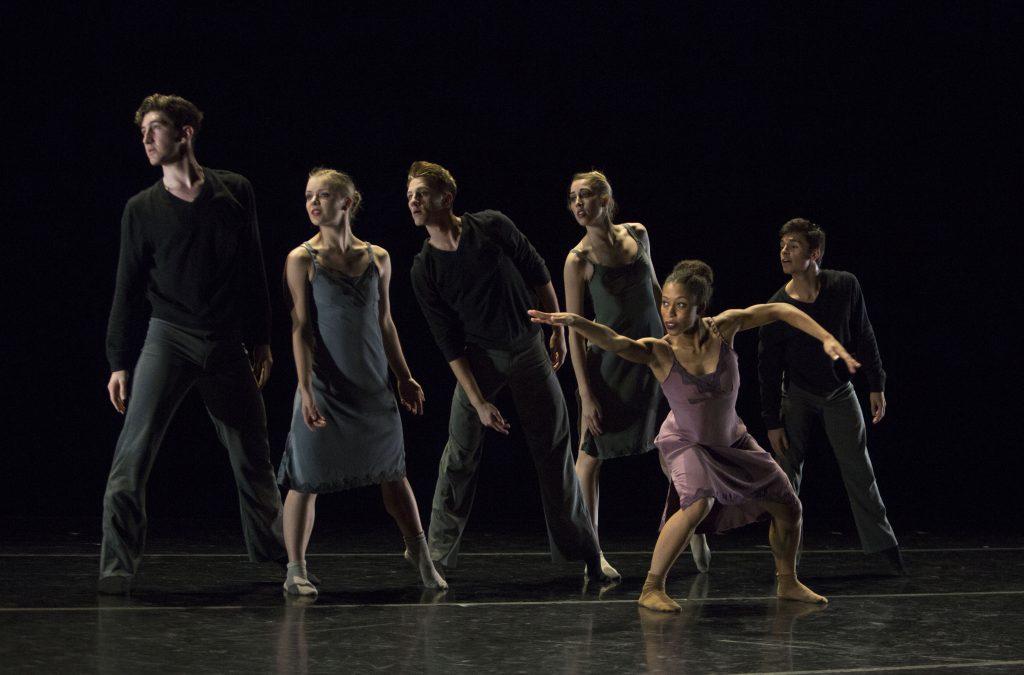 "USC Kaufman students perform Alejandro Cerrudo's ""Lickety Split"" at the 2016 Fall Dance Performance"