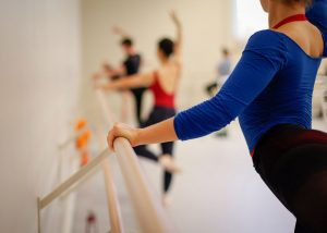 BFA Students in Ballet Class. Photo by Carolyn DiLoreto