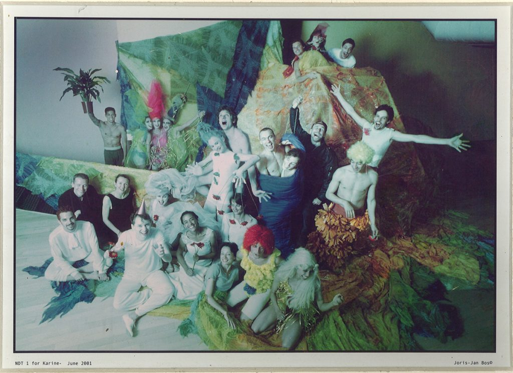 Fiona Lummis and many of her Nederlands Dans Theater college dancers