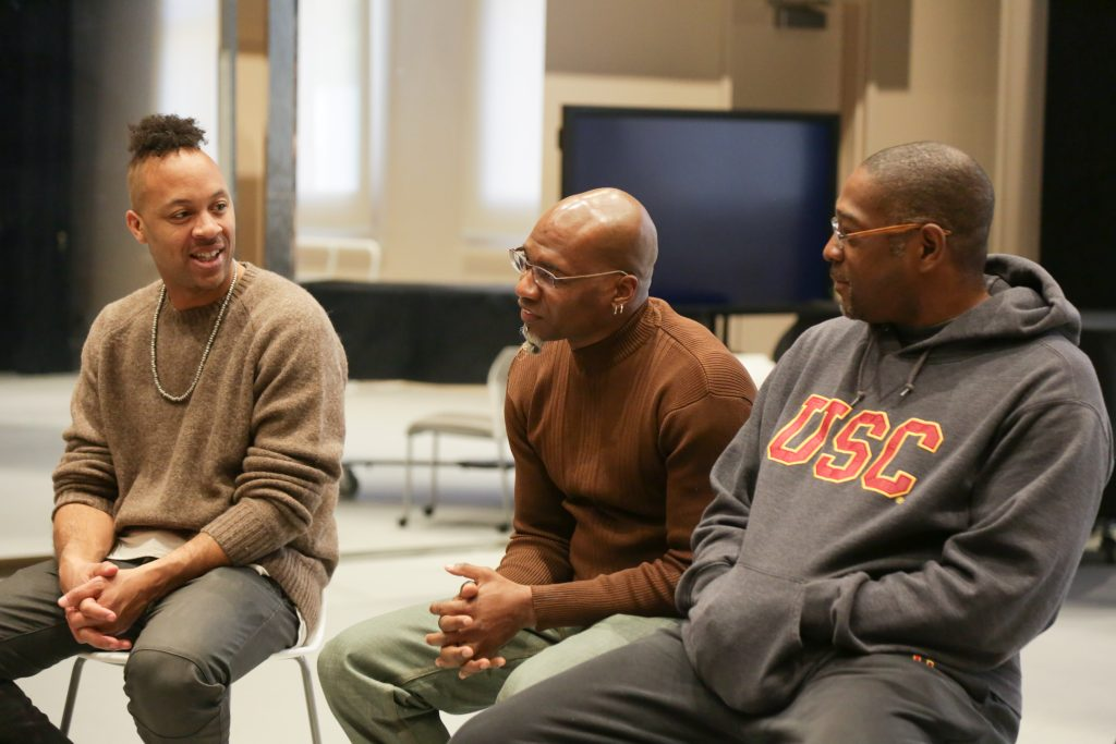 d. Sabela Grimes, Raphael Xavier and E. Moncell Durden Speak at a Hip Hop Panel held at GKIDC. Photo by Carolyn DiLoreto