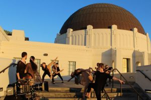 USC Kaufman Students in a commercial for Los Angeles. Photo by Juan Miguel Posada