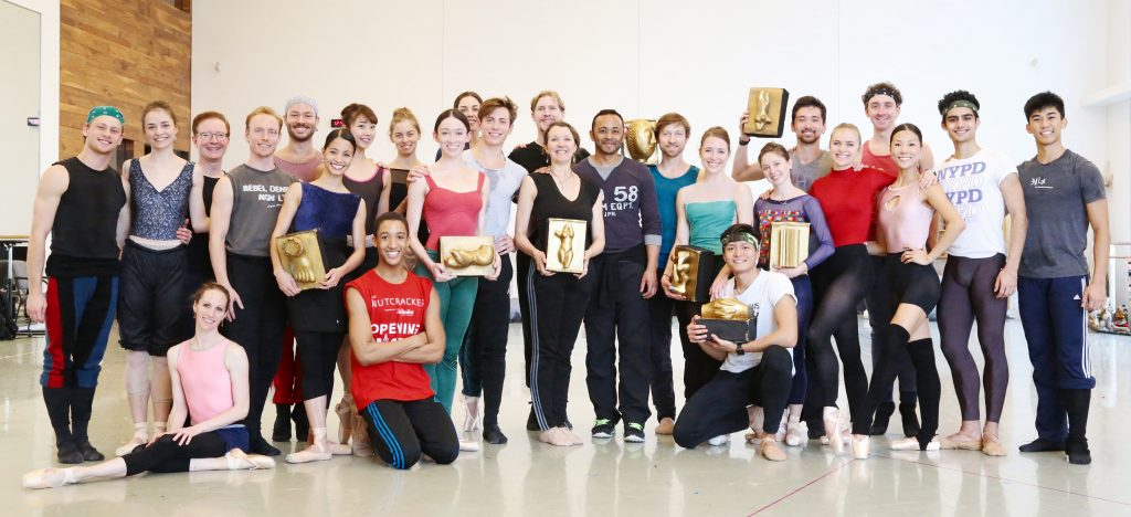 USC Kaufman faculty member Fiona Lummis with dancers from the Houston Ballet   Photo by Raven Nielsen. Courtesy of Houston Ballet