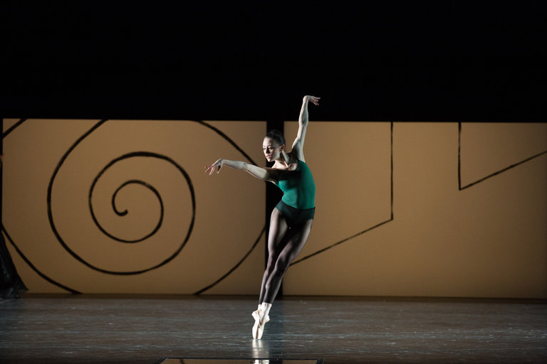 """Dusty Button of Boston Ballet in Faculty Member William Forsythe's """"Artifact Suite"""". Photo published in the NYTimes"""