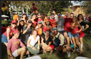 BFA Students of the Class of 2019 at Trojan Family Weekend.