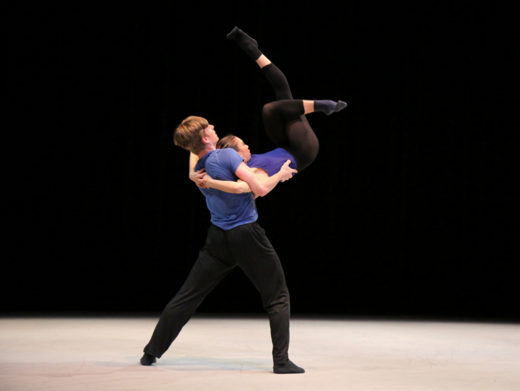 """Trevor and Jessica in Quijada's """"Empirical Quotient"""". Photo by Mary Mallaney"""