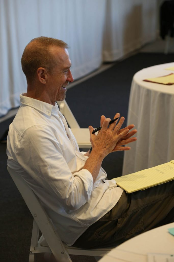 William Forsythe at the Futures in Motion Summit. Photo by Jennifer Staples