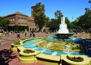 USC fountain on campus