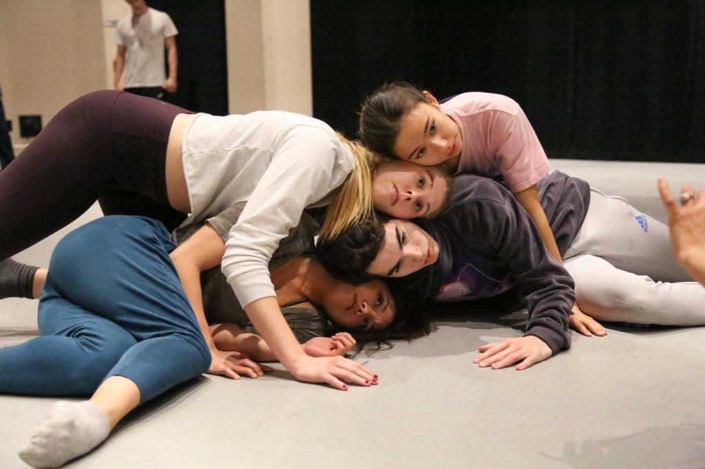 """BFA students rehearse """"Caught in the Chamber"""" 