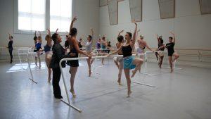 Jodie Gates teaches ballet class
