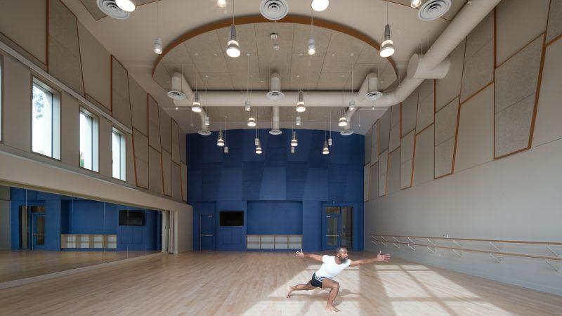 Austyn Rich dances alone in a dance studio