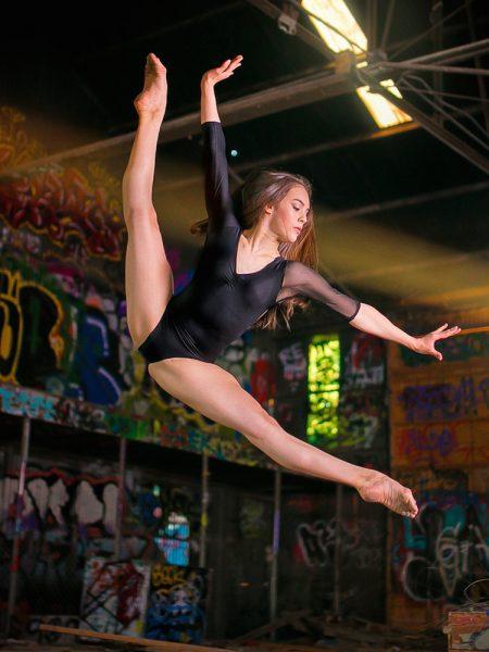 Emma Sutherland dancing