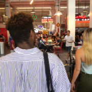 students at Grand Central Market in downtown LA
