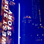 """A marquee reads """"West Side Story"""""""