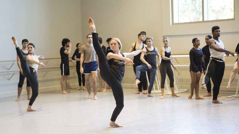 dancers do across the floor jazz exercises