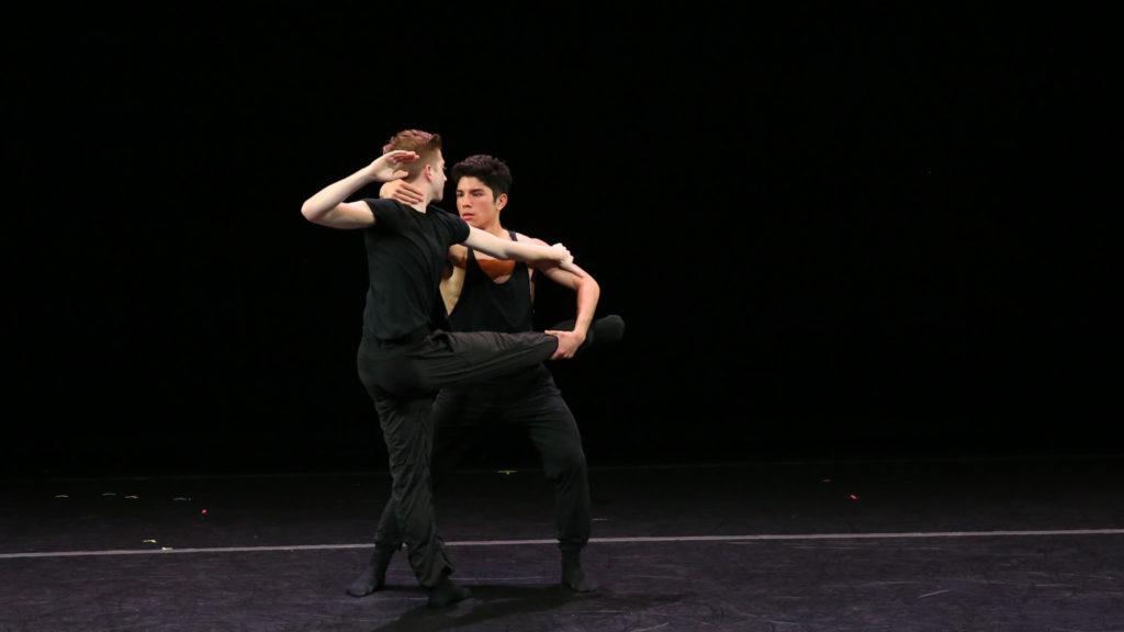Benjamin Peralta dancing on stage.