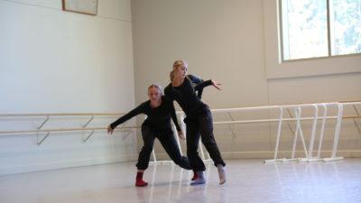 Lauren Brophy dancing in the studio.