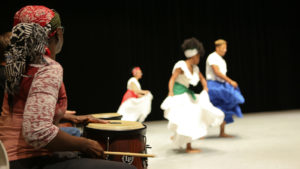 Anindo drumming live with dancers