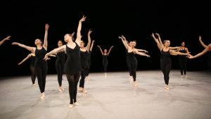 Ballet dancers wearing all black