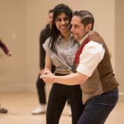 Jay Fuentes teaching a ballroom dance class