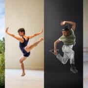 Collage of full color photos of Rachel Harris, Paulo Hernandez-Farella, Jakevis Thomason, and Alyssa Myers