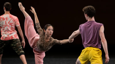 Anne Kim in penche wearing pink pants