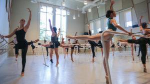 dancers in ballet class