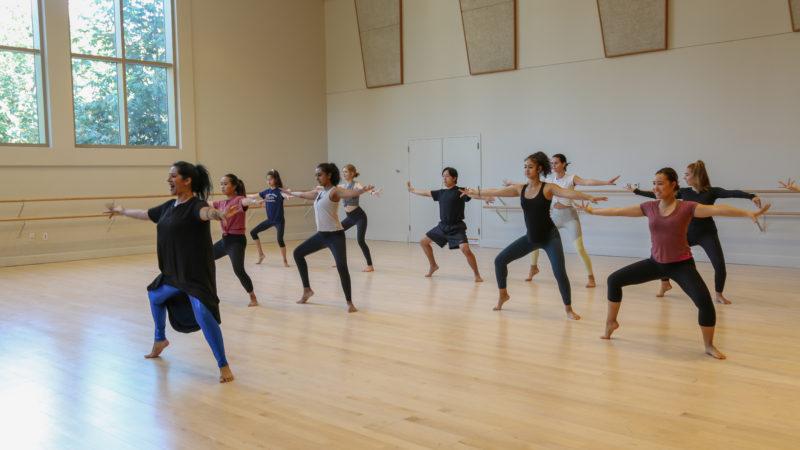 Achinta S. McDaniel teaches class in a Kaufman studio