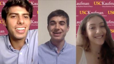 Screenshots of students speaking on Zoom