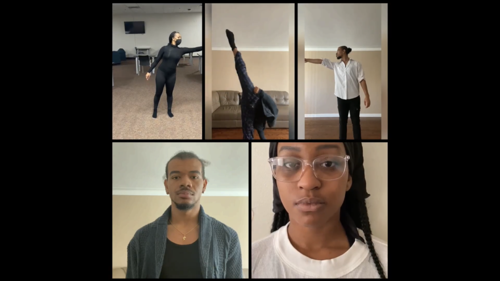 Collage of screenshots from Dylan Smith's dance film