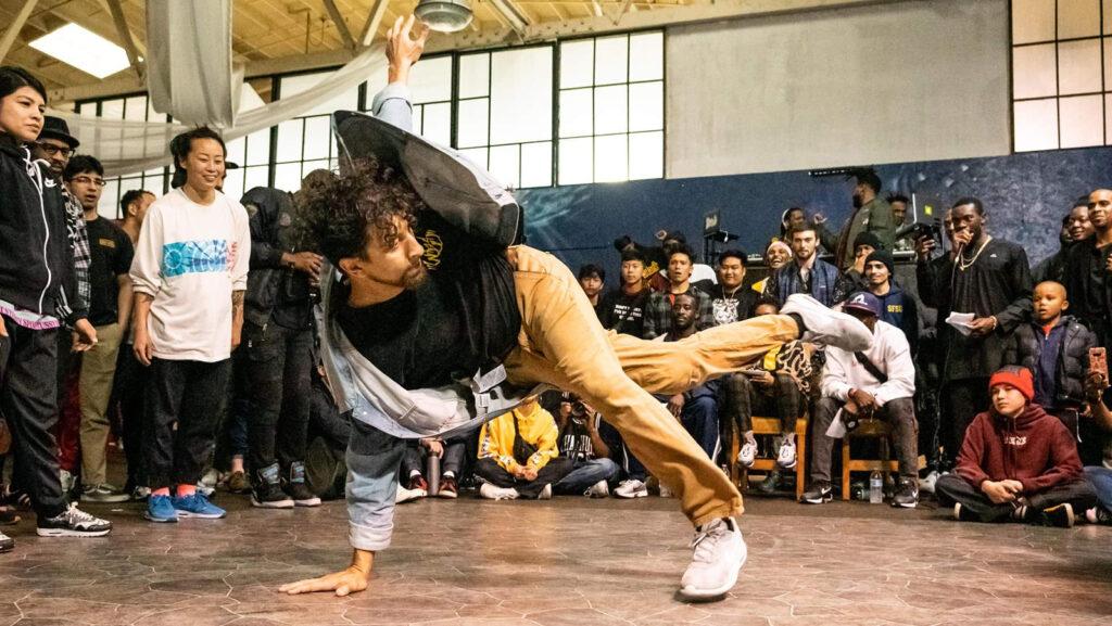 Dante Rose dancing in a cypher